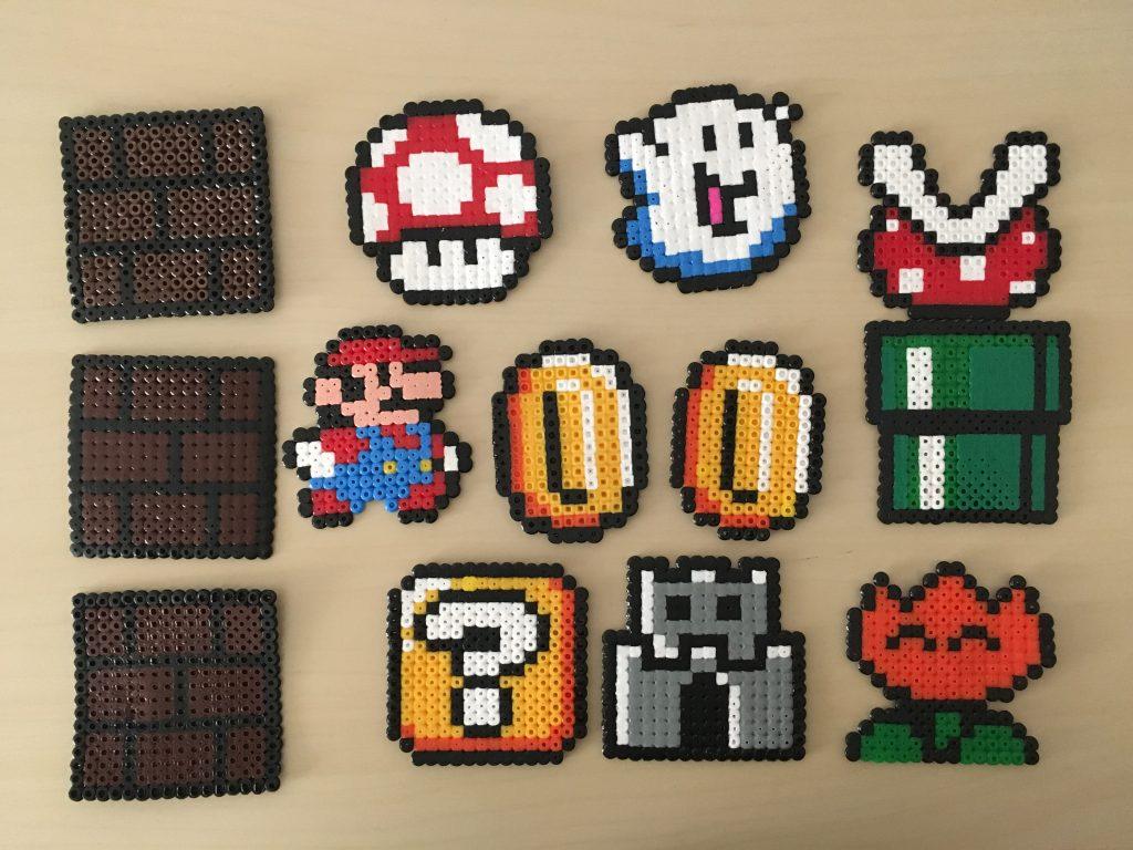 Haz un mural de Mario Bros con ¡perler beads! - Bloginia